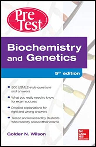 Kết quả hình ảnh cho Biochemistry & Genetics: PreTest Self-Assessment & Review