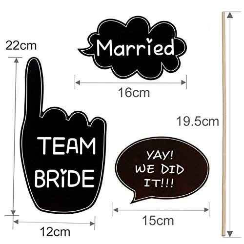 (BeesClover Photo Booth Props Wedding Decoration Team Bride Groom Blackboard Photobooth Bridal Shower Wedding Event Party Favors)