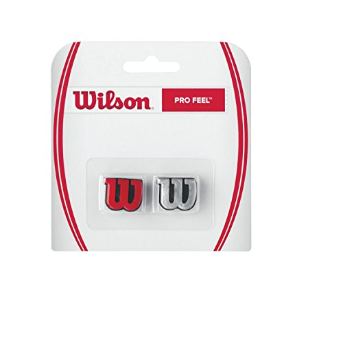 Wilson Pro Feel Tennis Vibration Dampener, Red/Silver (Vibration Dampeners)
