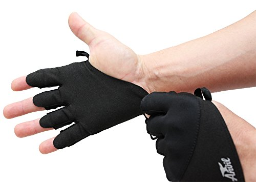 Size Large - Weight Lifting Gloves for Exercise & Fitness - Ultralite by Anvil Fitness - Perfect for Weightlifting, Bodybuilding, Cross fit and Power Lifting