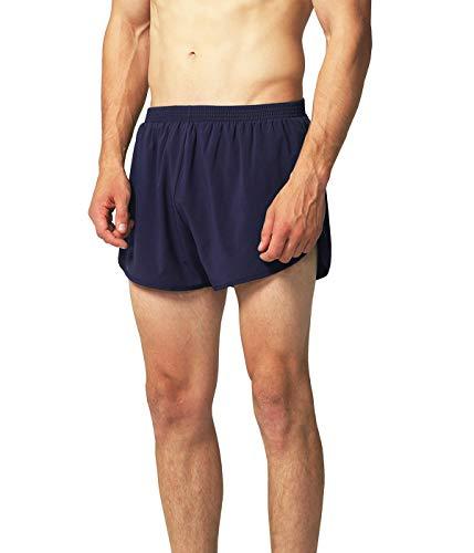 EZRUN Mens Lightweight Quick Dry Pace Workout Running Shorts(Navy,M)