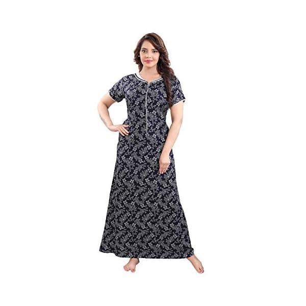 Best Premium Cotton Nighties With Front Long Zip Online India