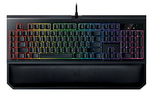 (Razer BlackWidow Chroma V2: Esports Gaming Keyboard - Ergonomic Wrist Rest - 5 Dedicated Macro Keys - Razer Yellow Mechanical Switches (Linear and Silent))