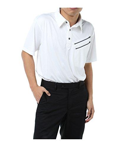 ツアーディビジョン ゴルフウェア ポロシャツ 半袖 ファスナーエンボス半袖シャツ TD220101H10 WH L