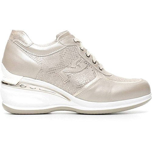 Sneaker Donna Alta in Pelle Savana P717050D 505 - Nero Giardini