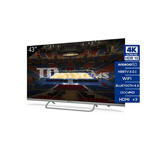 🥇 Televisiones Smart TV 43 Pulgadas 4K Android 9.0 y HBBTV