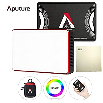 Image of Aputure Amaran MC RGBWW Mini On Camera Video Light,Al-M9 Upgrade Version,3200K-6500K,CRI/TLCI 96+,HSI Mode,Support Magnetic Attraction and App with USB-C PD and Wireless Charging +UKHP Cleaning Cloth On-Camera Video Lights