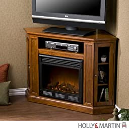 Holly & Martin Ponoma Convertible Media Electric Fireplace, BRN MAHOGANY