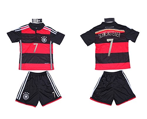 原子岩うねるFWC 2014 Schweinsteiger 7 Germany Away Futbol Football Soccer Jersey & Short