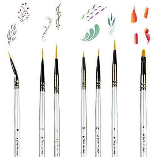 Best Model Miniature Paint Brushes - Small Detail Paint Brush Set - 7 pcs  Model Paint Brushes for Miniature Painting, Fine Detailing - Tiny, Mini,