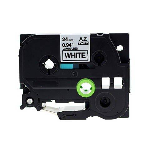 Cassette Compatible BROTHER TZe-251 Blanc sur Noir - 24MM/8M