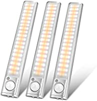 Under Cabinet Lighting 80 LED Closet Light, Motion Sensor Lights Indoor USB Rechargeable Dimmable Wireless Stick-on Night...