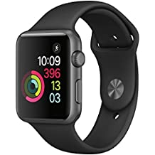 New Apple Watch Series 1 Smartwatch (Space Gray Aluminum Case, Black Sport Band) (38MM Series 1)