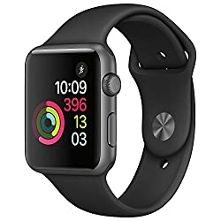 Apple Watch Series 1 42mm Smartwatch (Space Gray Aluminum Case, Black Sport Band)