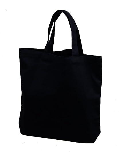 Amazon Com Set Of 12 Medium Tote Bag 14x13x3 Black 100 Cotton