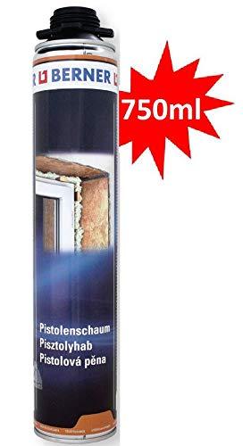 Espuma de poliuretano Berner 1-K de 750 ml de calidad para la ventana.
