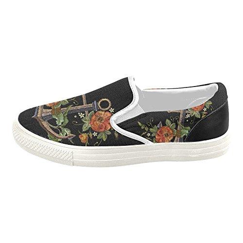 D-story Personnalisé Sneaker Femmes Chaussures De Toile À Enfiler Mullticolored2