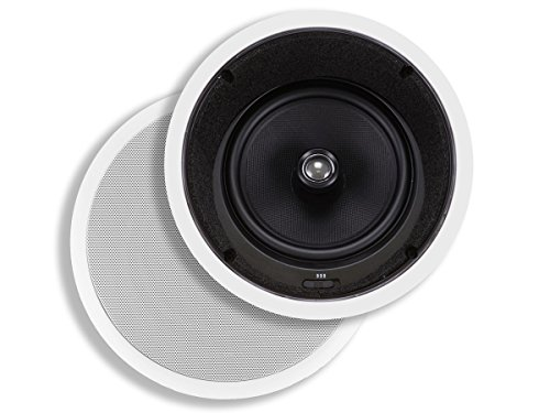 Monoprice Caliber In Ceiling Speakers 8 Inch Fiber 2-Way with 15° Angled Drivers (pair) - 104929 by Monoprice
