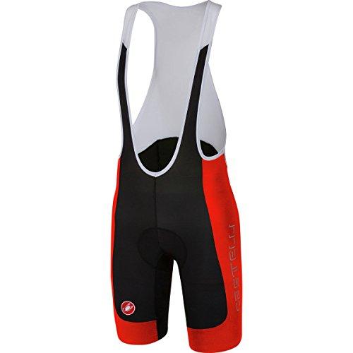 Castelli Evoluzione 2 Bib Short - Men's Black/Red, M by Castelli (Image #1)
