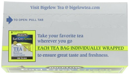 Bigelow Earl Grey Green Tea, 20 Bags (Pack of 6), Premium Green Tea with Oil of Bergamot, Antioxidant-Rich All-Natural Gluten-Free Medium-Caffeine Tea in Foil-Wrapped Bags by Bigelow Tea (Image #7)