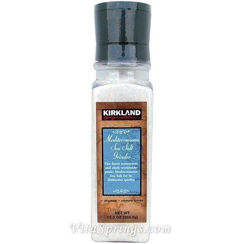 Kirkland Signature Mediterranean Sea Salt Grinder, 13 oz (368.5 g) by kirkland signature [Foods]