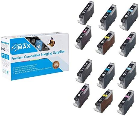 SuppliesMAX Compatible Replacement for Canon PIXMA iP-6600//6700//MP-950//950//970//Pro 9000 Inkjet Combo Pack CLI-8 2//PK-BK//C//M//Y//PC//PM CLI-8BKCMYPCPM/_2PK