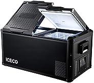 ICECO VL Pro Series Portable Refrigerator, Multi-directional Lid, Dual USB & DC 12/24V, AC 110-240V, Steel