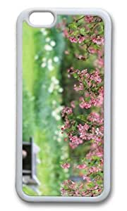 MOKSHOP Adorable garden spring blooms Soft Case Protective Shell Cell Phone Cover For Apple Iphone 6 Plus (5.5 Inch) - TPU White