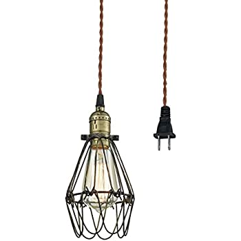 Claxy ecopower industrial opening and closing plug in pendant claxy ecopower industrial opening and closing plug in pendant lighting wire cage lamp guard fixture aloadofball Image collections