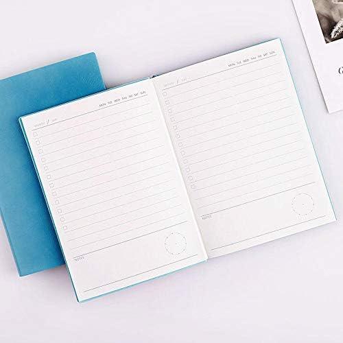 Kalendertabs 2020 2020 Tagebuch Soft Surface Portable Notepad Tragbares Notizbuch in himmelblau 2020-Planertagebuch