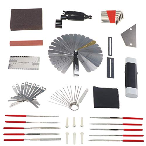 Guitar Repair Tools Guitar Care Tool String Organizer Guitar Winder String Cutter String Action Ruler Gauge Silk polishing Protective Plate Fret Files Grinding Tools Cleaning and Maintenance Tools