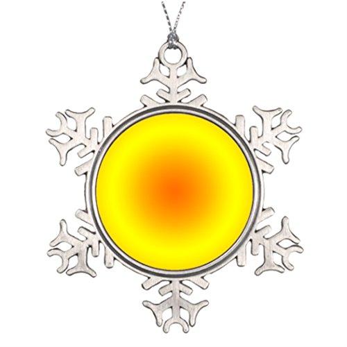 Tree Branch Decoration Sunny Yellow Orange Circular Gradient Snowman Christmas Snowflake Ornaments Design (Tree Branch Christmas Circular)