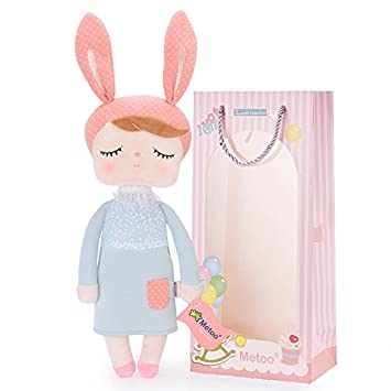 9ad0f8c5998 Image Unavailable. Image not available for. Color  Easter Gifts Baby Doll  Girl Gifts Super Soft Plush Rabbit Bunny Toys ...