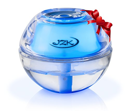 Best Cool & Warm Mist Humidifier by JZK for Sinus Infection, Dry Sinuses, Eyes, Nose, Throat | Mini Personal Portable Quiet Diffuser with Night Light, Auto Safety Shut-off, USB Cable, Adapter, Filter