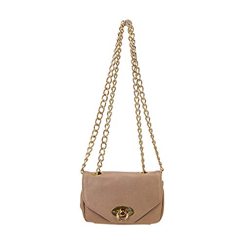 - Pietro Alessandro Taupe Lamb Leather Crossbody Clutch Mini Handbag