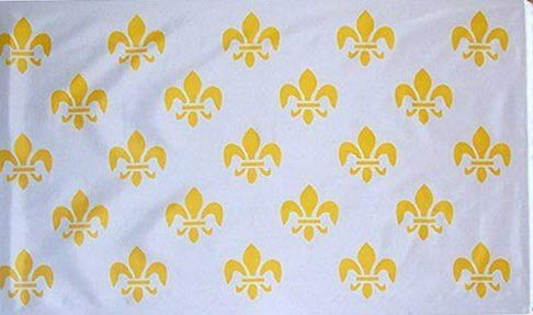 Hebel 3x5 White New Orleans French 23 Fleur De Lis Flag 3x5 House Banner Polyester | Model FLG - 1476