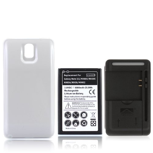 Yiboyuan - 6800 mAh batería con cargador y protectora para ...