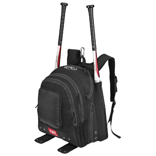 Black Rawlings Baseball/Softball 2-Bat Backpack by Rawlings