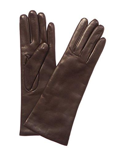 Portolano Womens Cashmere-Lined Leather Glove, 7.5 - Cashmere Portolano