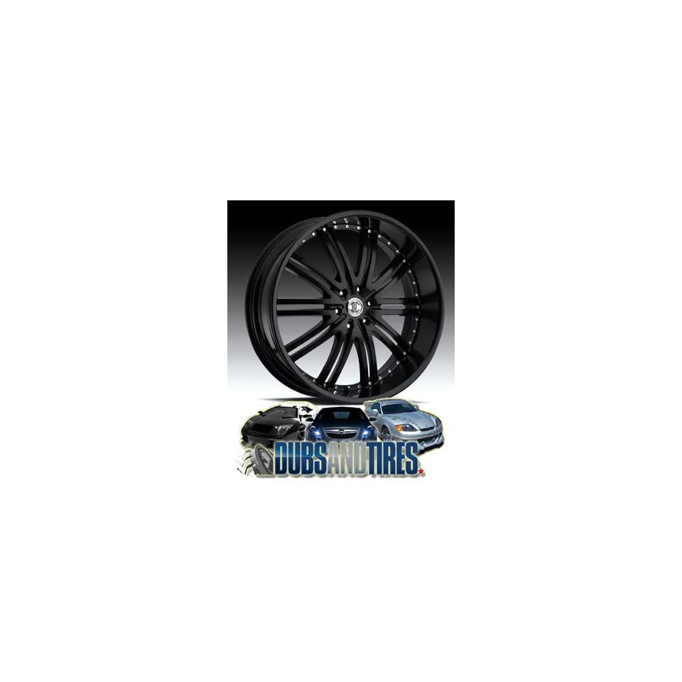 24 Inch 24x10 2 Crave wheels No.11 Glossy Black/Machined Face wheels rims