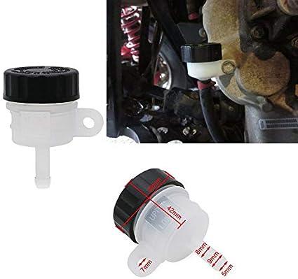 Depósito de líquido de frenos trasero para depósito de aceite para Polaris ATV Quad Sportsman Magnum Scrambler Outlaw Tank tapa de aceite: Amazon.es: Coche y moto