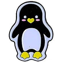 "Penguin - Enamel PIN, Licensed Original Artwork by Krisgoat, 1.25"""