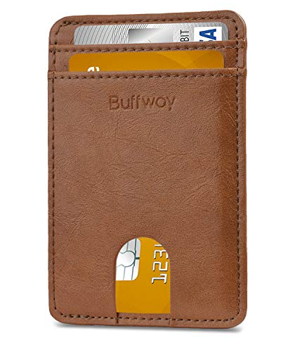 Slim Minimalist Leather Wallets for Men & Women (Small Size) - Seattle Brownness
