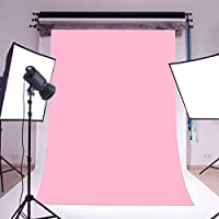 LB 5x7ft Pure Color Vinyl Photography Backdrop Customized Photo Background Studio Prop Baby Pink