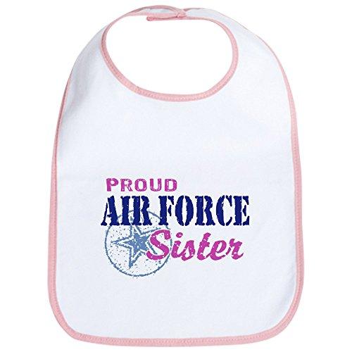 CafePress - Proud Air Force Sister Bib - Cute Cloth Baby Bib, Toddler Bib ()