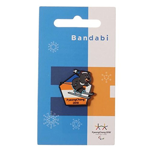 2018 Pyeongchang Winter Olympic Official Licensed Collectible Pin Badge (05. Cross Country Bandabi)