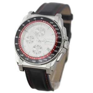 Breil TW0790 - Reloj con correa de cuero para hombre, color plateado / gris