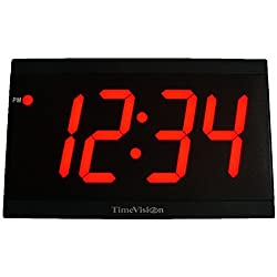 TimeVision 4 Jumbo Red LED Clock in Acrylic Case, ATC1808