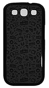 Samsung Galaxy S3 I9300 Cases & Covers - Multimedia Symbols Pattern Custom PC Soft Case Cover Protector for Samsung Galaxy S3 I9300 - Black