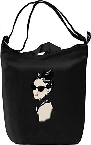 Girl with Sunglasses Borsa Giornaliera Canvas Canvas Day Bag  100% Premium Cotton Canvas  DTG Printing 